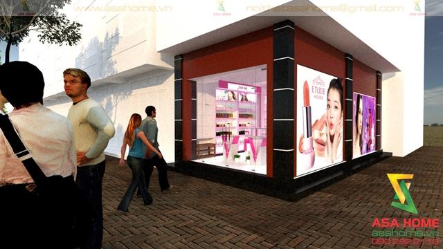 Thiết kế Shop Mỹ Phẩm tại quận 10 cho chị Trinh