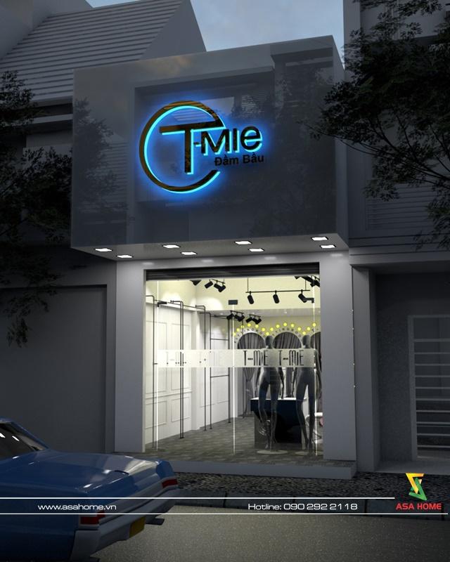 Hình ảnh vào ban đêm của Thiết Kế Thi Công Shop T- MIA tại quận 10