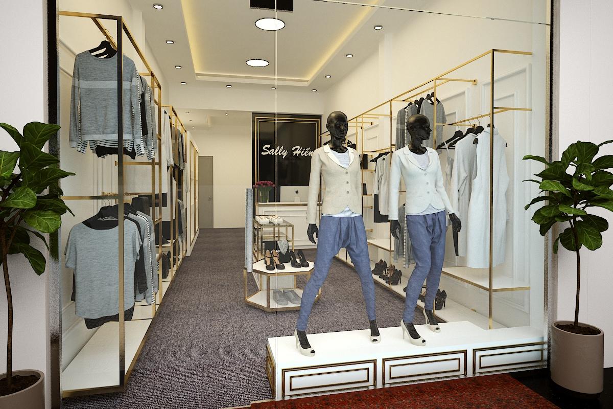 Thiết kế nội thất shop bán quần áo nữ Sally Hiền – Quận 7
