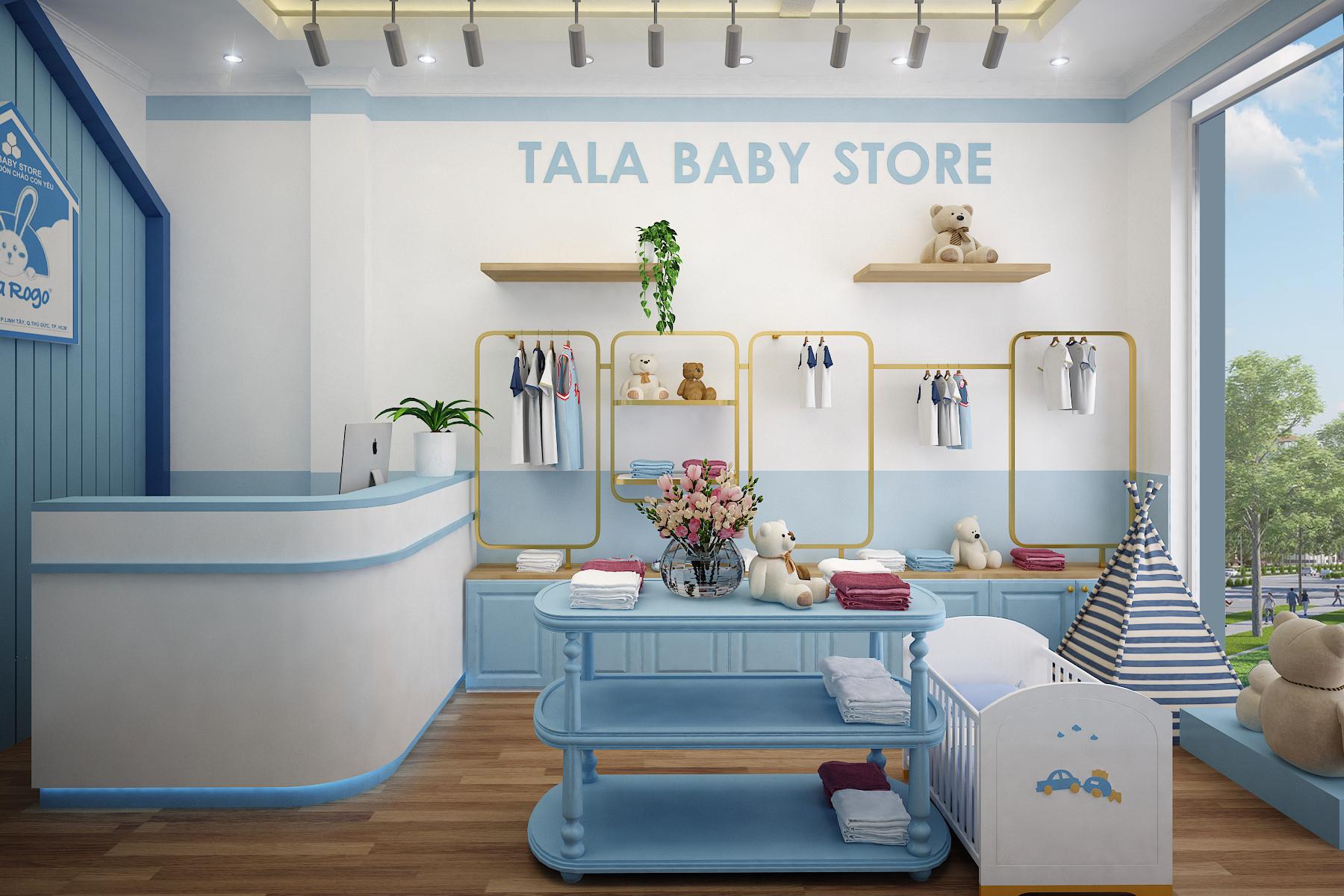 Thiết kế nội thất shop thời trang trẻ em ấn tượng