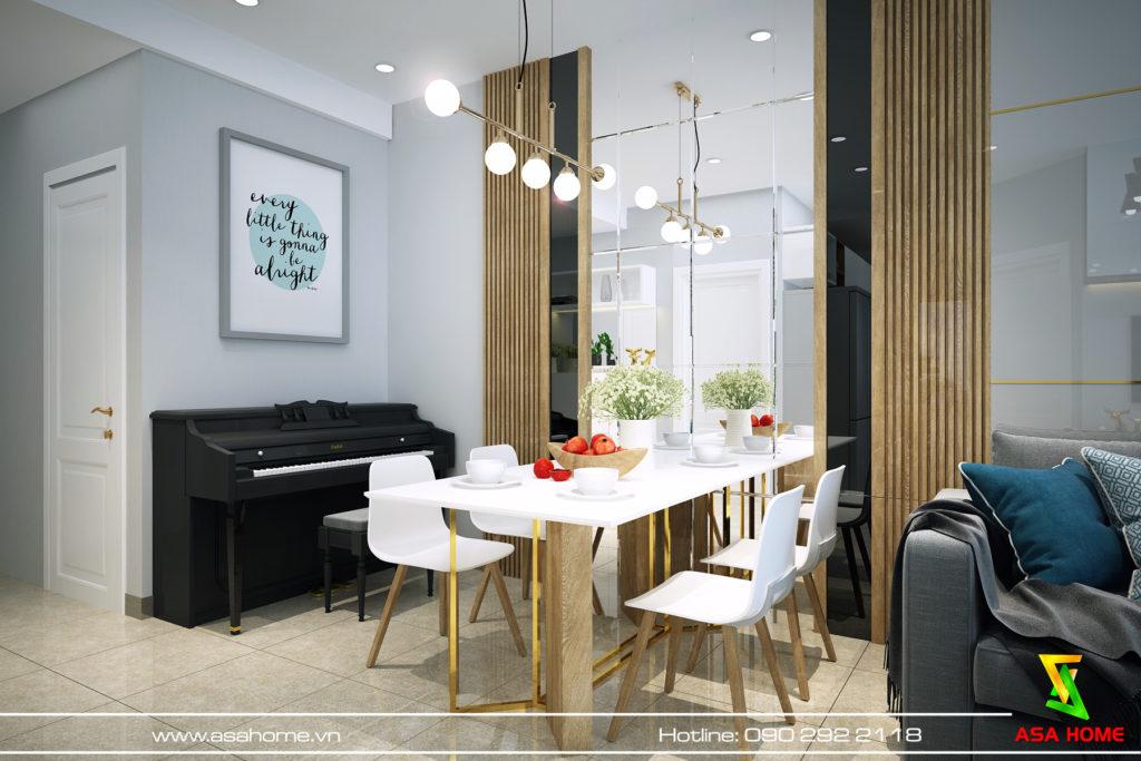 Phòng ăn căn hộ Đạt Gia hiện đại