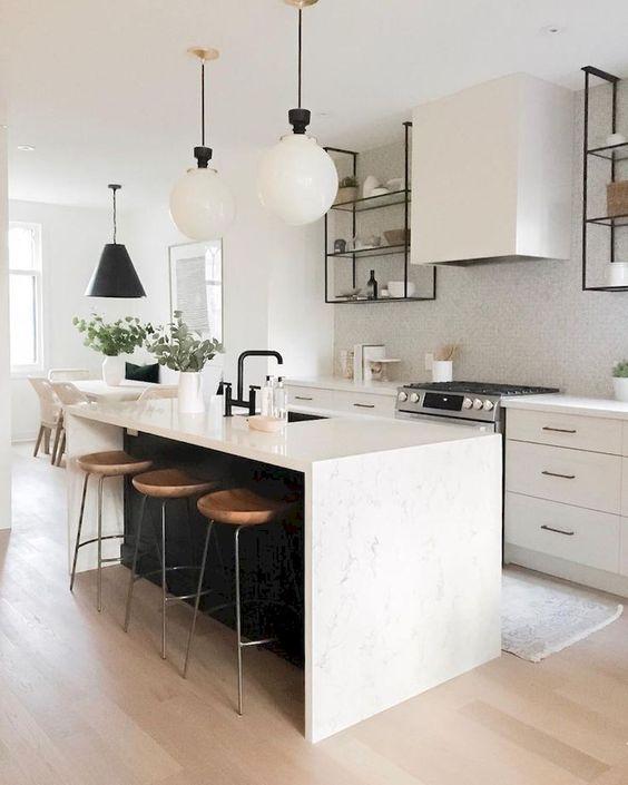 Phòng bếp tối giản - không gian thoải mái