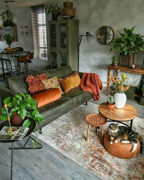 """Phòng khách cực """"nghệ"""" phong cách vintage"""