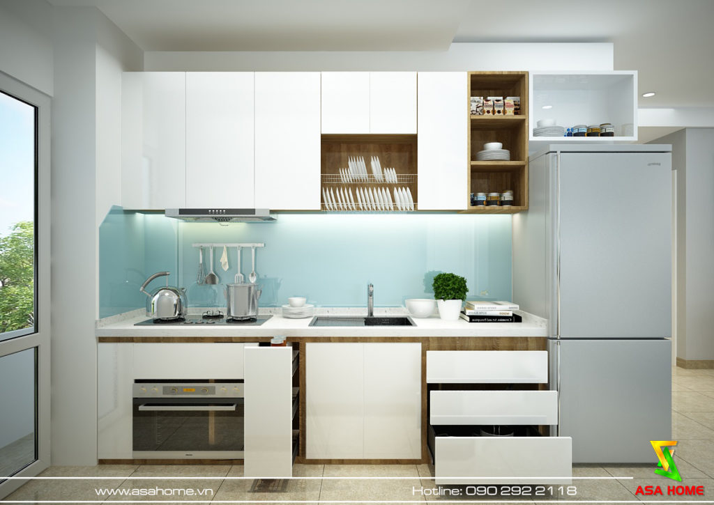 Phòng bếp căn hộ Đạt Gia hiện đại