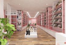 Hệ thống quầy kệ chuyên nghiệp tại Shop Quỳnh