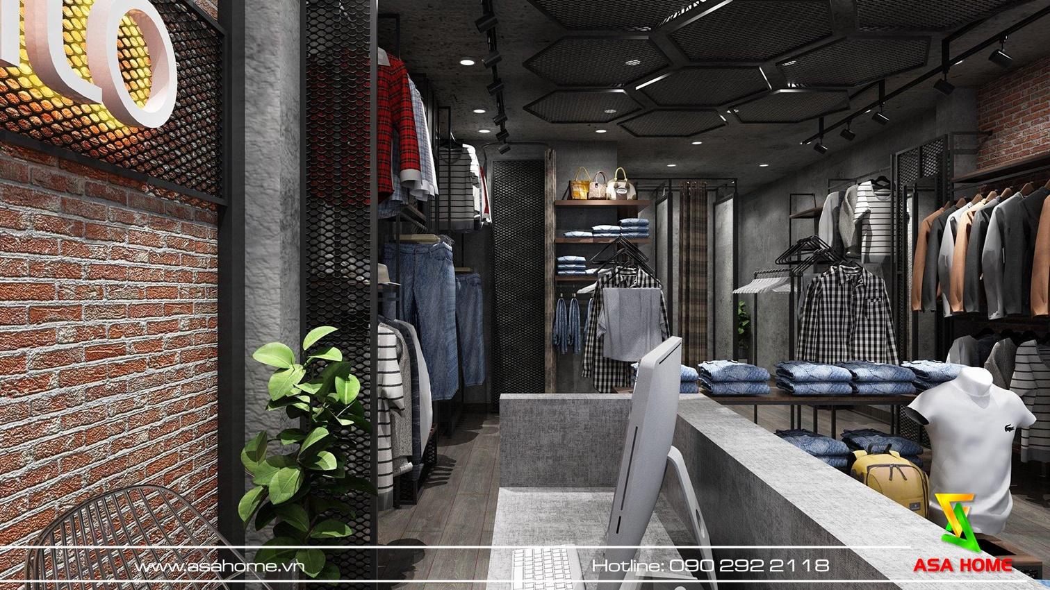 Thiết kế shop thời trang nam phù hợp với những tiêu chí đưa ra