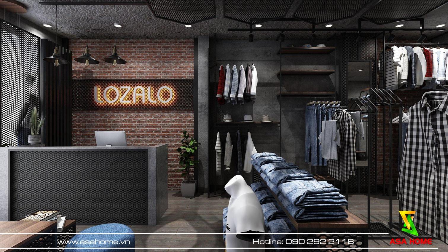 Thiết kế Shop thời trang nam tại Bình Thạnh