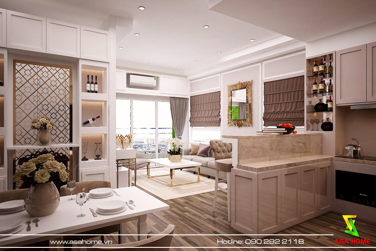 Các tiện ích được thiết kế đầy đủ ở căn hộ