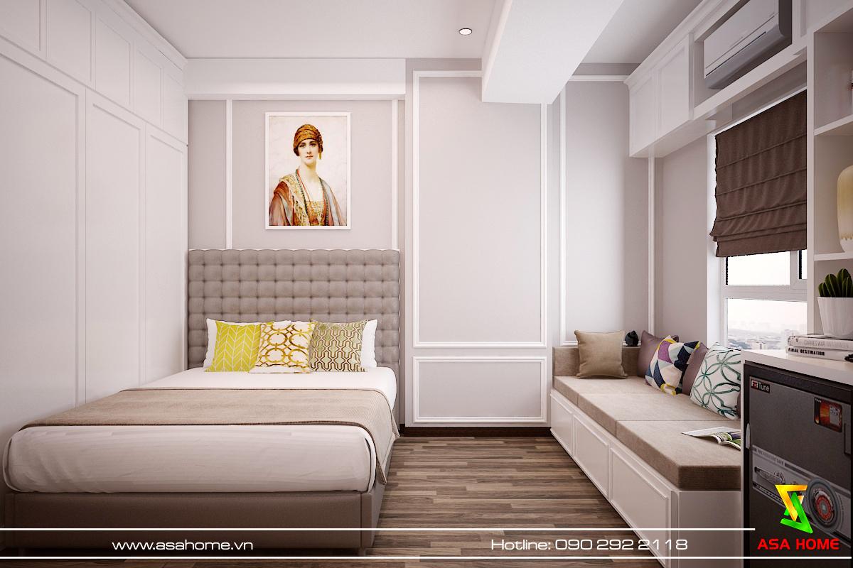 Phòng ngủ với window sofa cực thoải mái cho những ngày mưa