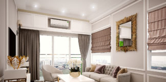 Phòng khách tạo cảm giác rộng mở và thoải mái