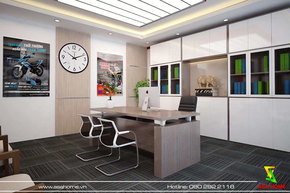 Văn phòng giám đốc - thiết kế nội thất văn phòng Hoàng Cầu