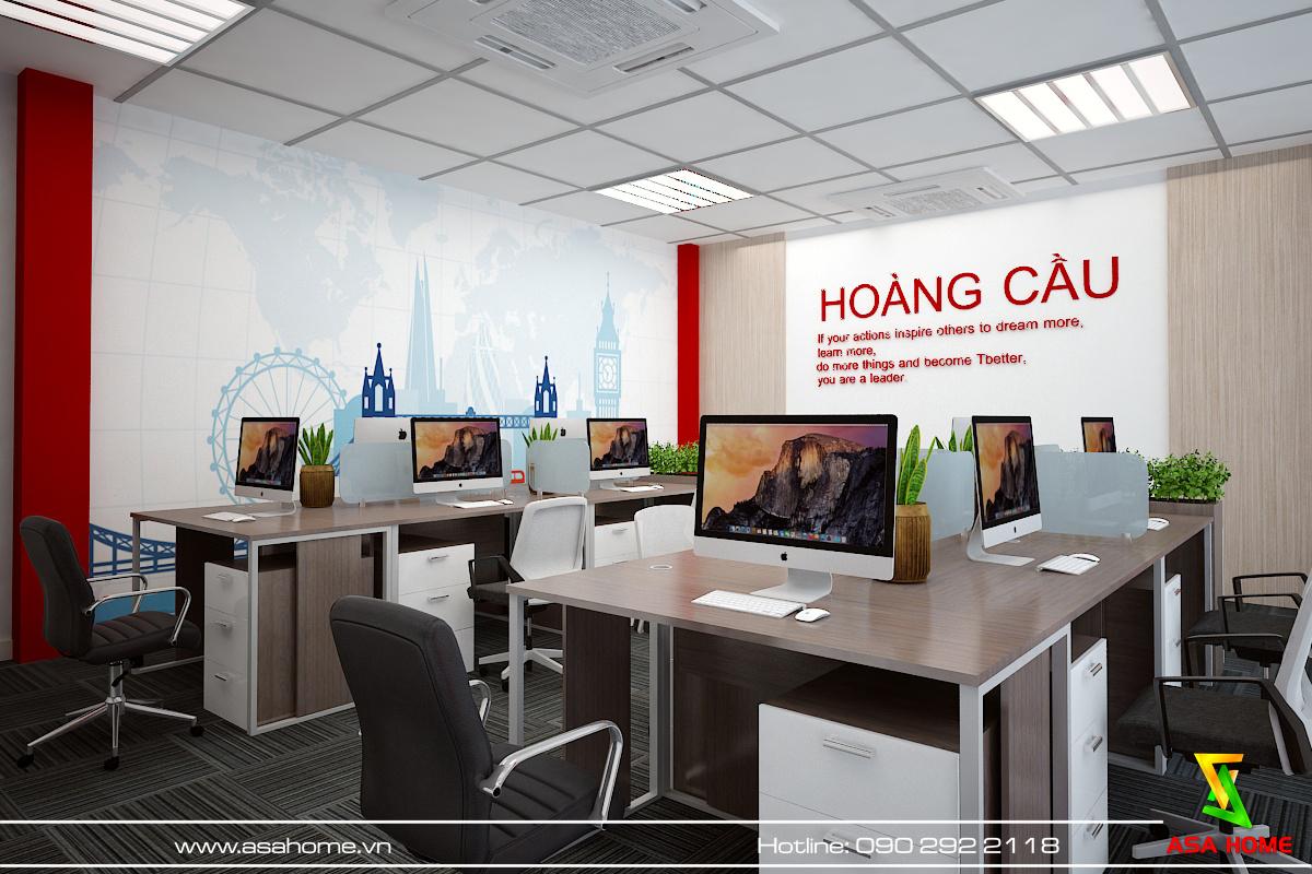 Thiết kế văn phòng với đầy đủ tiiện nghi