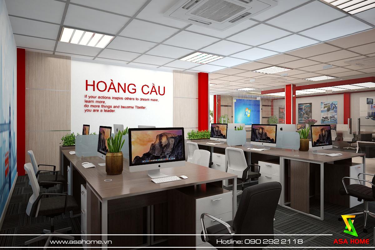 Thiết kế văn phòng hiện đại, năng động