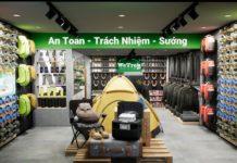 Thiết kế shop phụ kiện hoạt động giải trí ngoài trời Wetrek