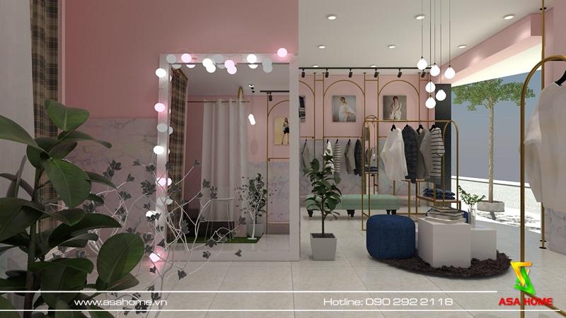 Chọn đèn cho shop thời trang