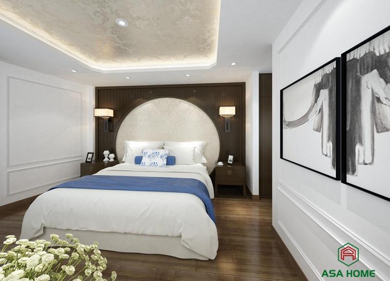 Thiết kế nội thất phòng ngủ tân cổ điển tỷ lệ vàng