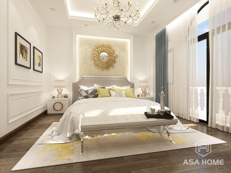 Phòng ngủ số 2 - Chọn màu trắng pastel làm màu chủ đạo