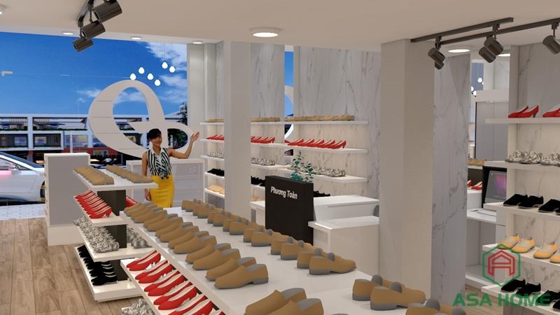 Bên trong thiết kế shop giày dép Phương Toàn