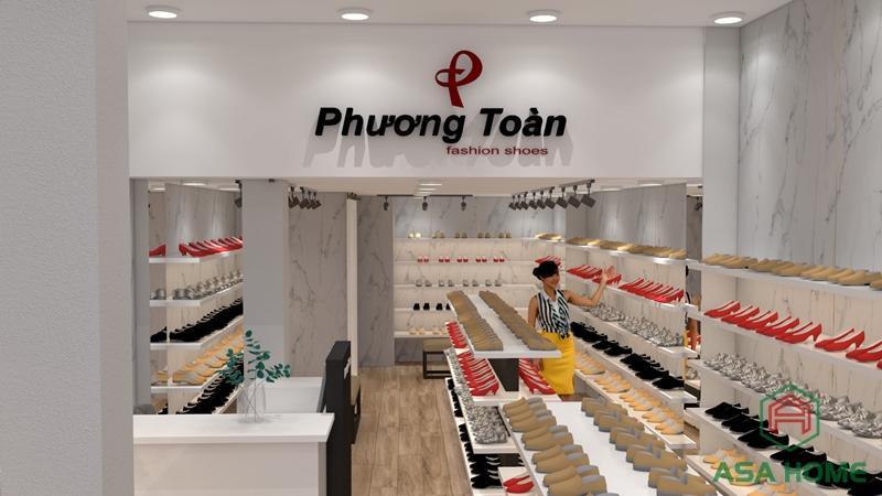 Thiết kế shop giày dép Phương Toàn đảm bảo tính khoa học, tiện dụng