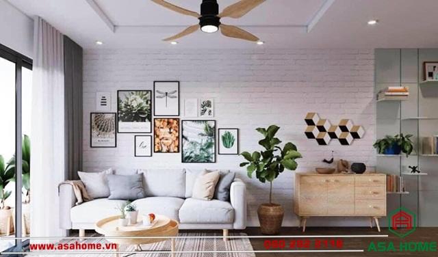 Phòng khách nổi bật với ánh sáng tự nhiên