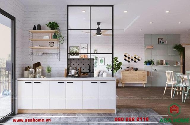 """Phòng bếp nhỏ nhưng vẫn đầy """"sức sống"""""""