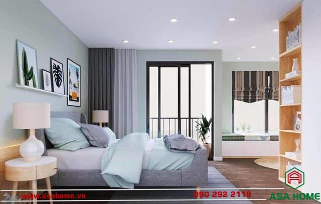 Phòng ngủ được thiết kế đơn giản nhưng ấm áp