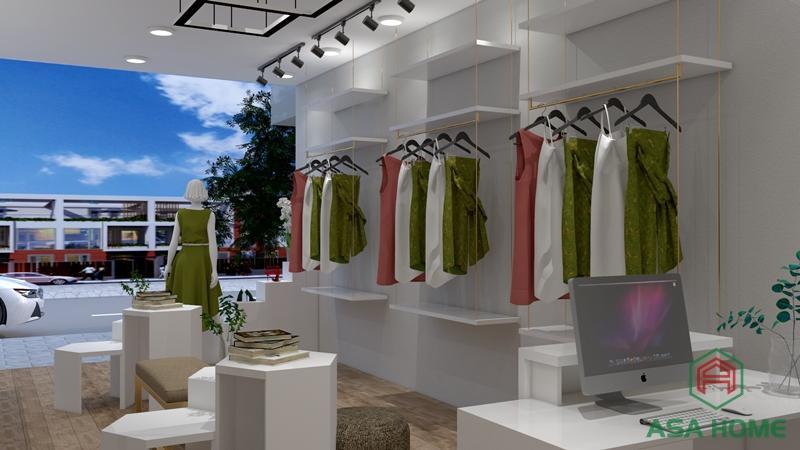 Thiết kế shop thời trang tạo ấn tượng với khách hàng