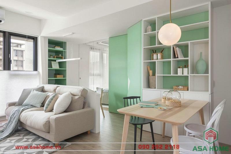 Thiết kế căn hộ quận 9 với phòng khách hiện đại