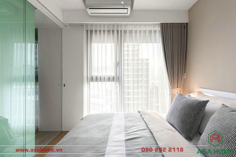 Thiết kế căn hộ với phòng ngủ ấm áp