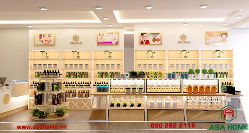 Mẫu thiết kế shop mỹ phẩm Hòa Phát
