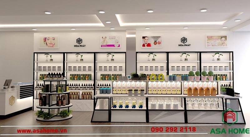 Không gian thiết kế shop mỹ phẩm