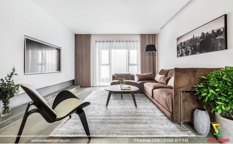 Thiết kế nội thất căn hộ theo phong cách hiện đại - ASA004
