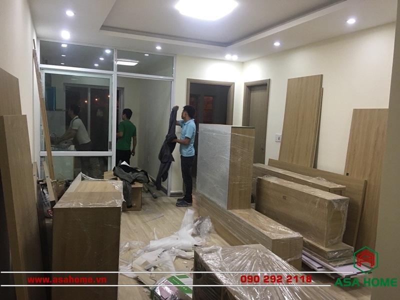 Quá trình thi công căn hộ cho Anh Minh
