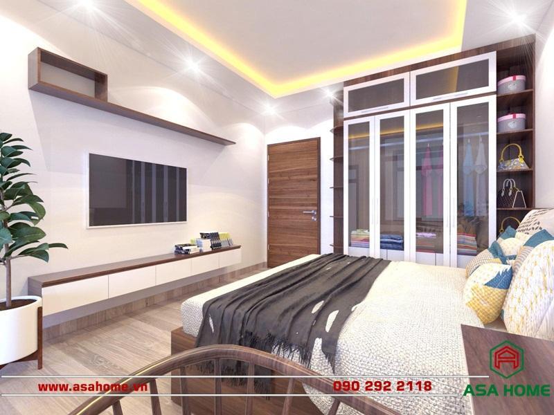 Phòng ngủ được thiết kế hiện đại, sang trọng
