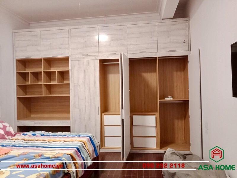 Thiết kế phòng ngủ với đầy đủ nội thất tiện dụng