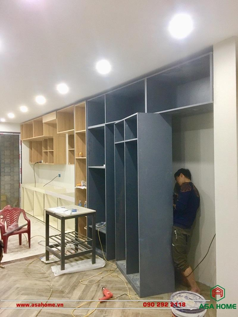 Quá trình thi công căn hộ của ASA HOME