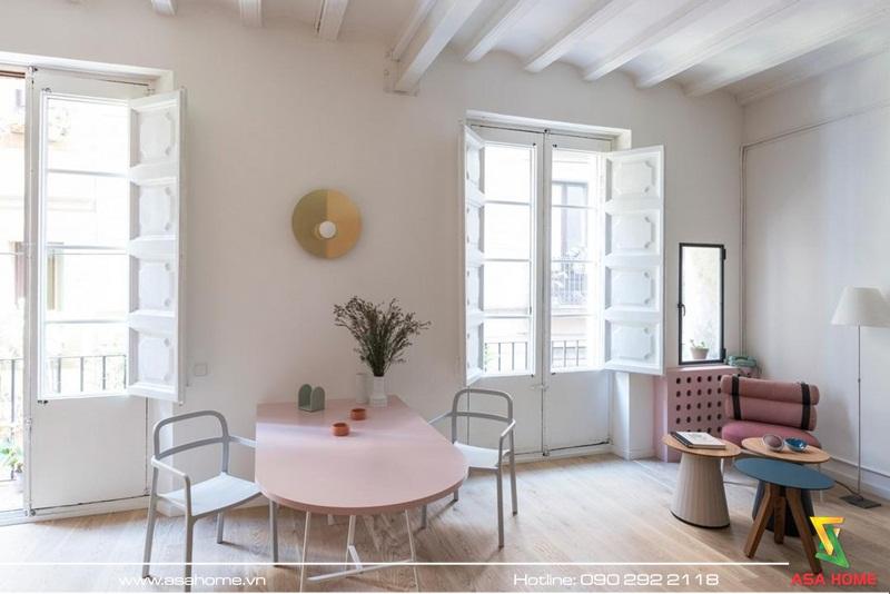 Phòng cách trẻ trung, hiện đại và ngập tràn sắc màu ấm áp