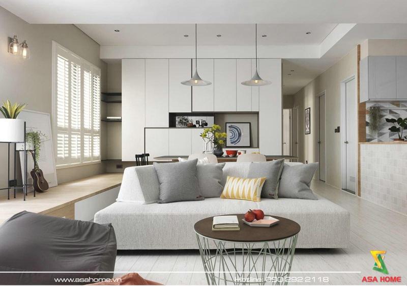 Thiết kế nội thất căn hộ hiện đại ASA 009